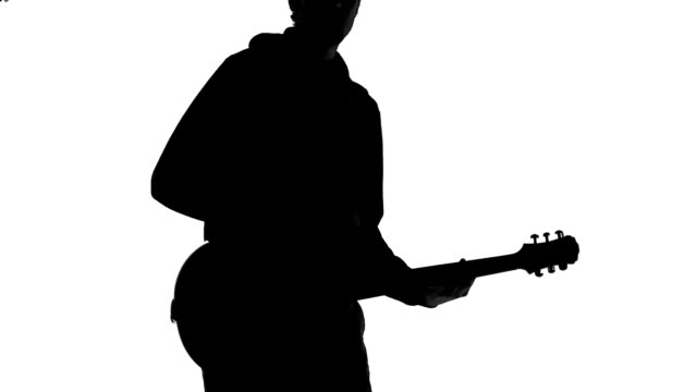 guitarist silhouette - guitarist stock videos & royalty-free footage
