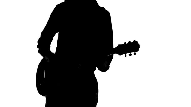 guitarist silhouette - guitar stock videos & royalty-free footage