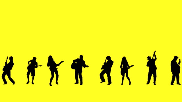 guitarist silhouettes - rocking stock videos & royalty-free footage