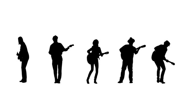 guitarist silhouettes - musician stock videos & royalty-free footage