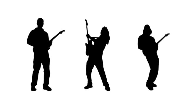 guitarist silhouettes - guitarist stock videos and b-roll footage