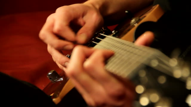 guitarist - plucking an instrument stock videos & royalty-free footage