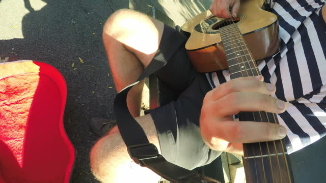 guitarist - pov - fretboard stock videos and b-roll footage