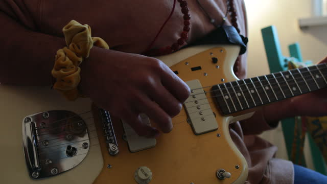 guitarist working from home - cool attitude stock videos & royalty-free footage