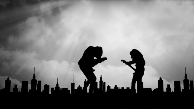 guitarists in the city - heavy metal stock videos & royalty-free footage