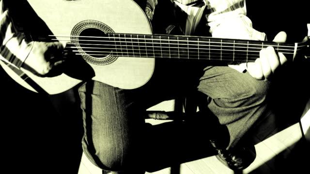 Guitarrist playing Spanish music