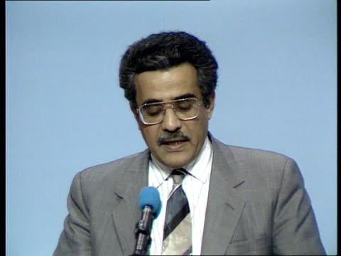 Edward Heath to meet Saddam Hussein C4N ENGLAND Bournemouth Edward Heath MP frmr PM chatting with aides in hotel amp into car Edward Heath MP pkf...