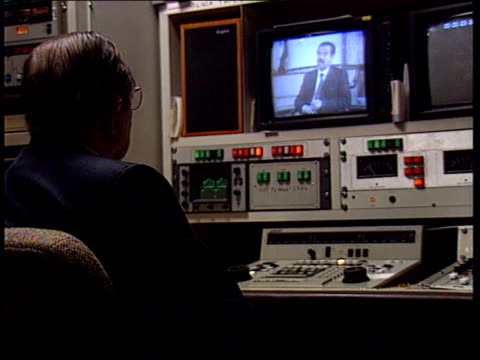 itn saddam interview analysis dr robert greenberg consultant psychologist watching intvw commenting on saddam - iraq stock videos & royalty-free footage