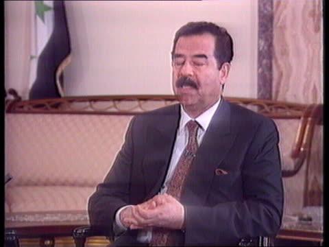 ITN Saddam interview Analysis More of Saddam intvw with McDonald