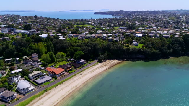 gulf harbour aerial view - bay of islands new zealand stock videos & royalty-free footage