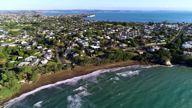 gulf harbour aerial view - new zealand stock videos & royalty-free footage