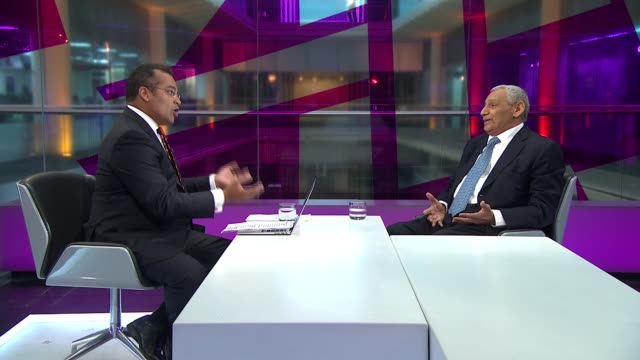 Gulf States criticised for response to Syrian refugee crisis ENGLAND London GIR INT Khaled AlDuwaisan LIVE STUDIO interview SOT