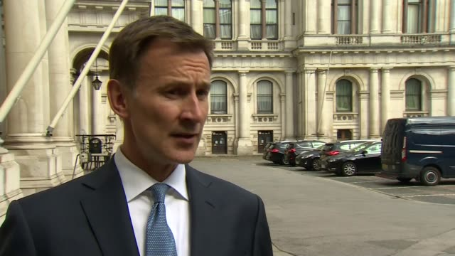 foreign secretary demands release of seized oil tanker england london foreign and commonwealth office ext jeremy hunt mp along / interview sot our... - foreign minister stock videos and b-roll footage