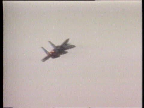 us warplanes to saudi arabia ms stealth bomber along runway pan rl g/air aircraft taking off g/air f15 fighter taking off pan lr cms f15 fighter... - stealth stock videos & royalty-free footage