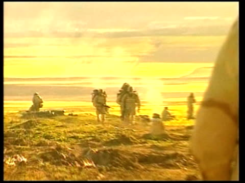 day 11 evening news pool artillery firing us soldiers along - 2003 stock videos and b-roll footage