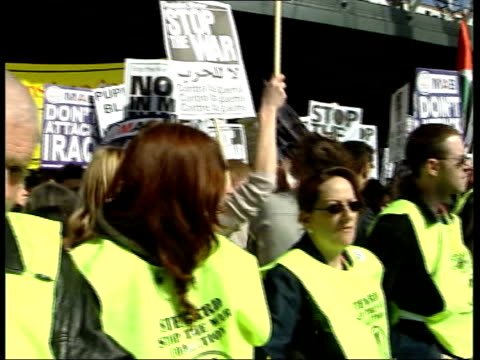 Day 3 Lunchtime News Bulletin LNN = NO London Stopthewar protesters at demonstration PAN