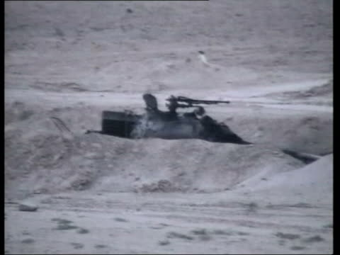 lunchtime news bulletin; pool green nightsight pix us artillery guns firing armoured vehicles along wide paved road int car soldier driving along as... - 3日目点の映像素材/bロール