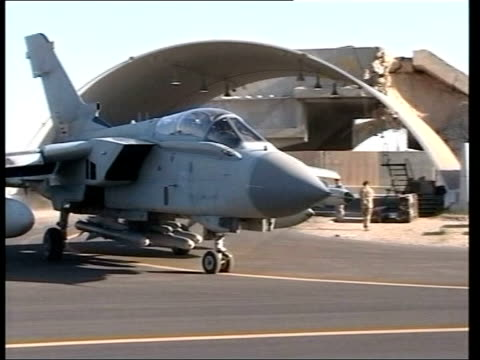 day 4 channel 4 news tornado jet taxiing out of hangar ls tornado taking off pan major general peter wall statement sot a detailed investigation is... - golfstaaten stock-videos und b-roll-filmmaterial