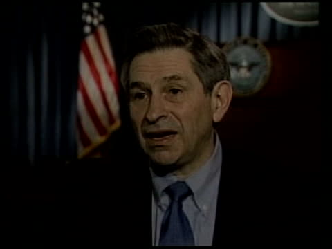 day 5 channel 4 news itn washington paul wolfowitz interview sot he may be injured/ tv pictures have artificial looking quality - day 5 stock videos and b-roll footage