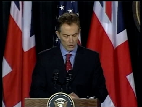 Day 8 News at Nine ITN USA Maryland Camp David Tony Blair MP press conference SOT If anyone needed any further evidence of the depravity of Saddam's...