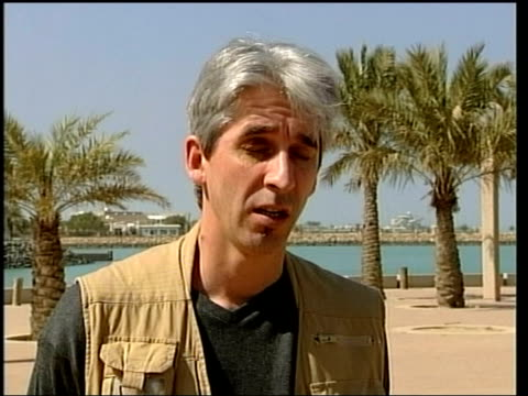 evening news; itn kuwait ext daniel demoustier interviewed sot - it is a big mystery - itv evening news stock-videos und b-roll-filmmaterial