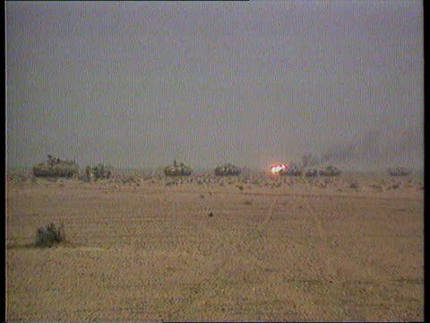 gulf war friendly fire gulf ls line of warriors as fire in far distance air force a10 thunderbolt in flight - g force stock videos & royalty-free footage
