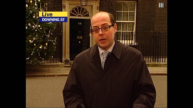 saddam hussein capture: itv lunchtime news pab; england: london: downing street: ext nick robinson live 2-way itn: int jonathan dimbleby live studio - itv lunchtime news stock videos & royalty-free footage