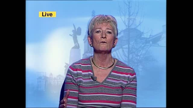 saddam hussein capture: itv lunchtime news pab; k)13.00: jonathan dimbleby itn live studio england: london: gir: int cms professor james gow... - itv lunchtime news stock videos & royalty-free footage