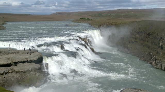 mit Besuchern Wasserfall de Gullfoss