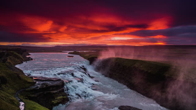 Gullfoss Waterfall at Sunrise - Iceland