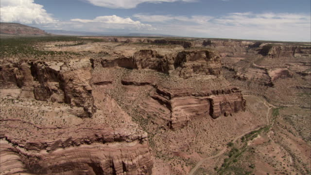 gullies wind through the scrublands and canyons of utah. available in hd - shrubland stock videos & royalty-free footage