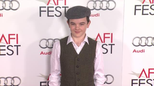 gulliver mcgrath at afi fest 2012 closing night gala world premiere of lincoln on 11/8/2012 in hollywood ca - 映画 リンカーン点の映像素材/bロール