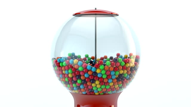 gumball machine 3d animation - bubble gum stock videos & royalty-free footage