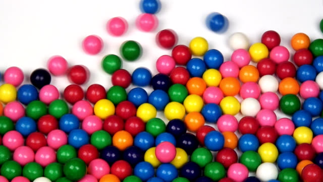 gumballs fine - gomma da masticare video stock e b–roll