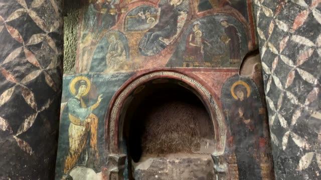 gumusler monastery, nigde city, turkey - chapel stock videos & royalty-free footage