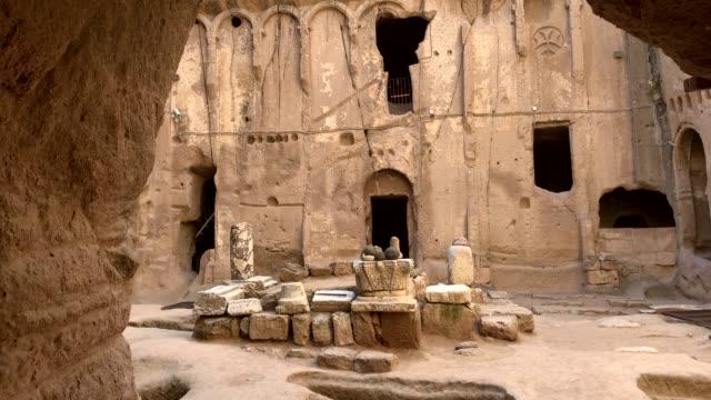 gumusler monastery, nigde city, turkey - antiquities stock videos & royalty-free footage