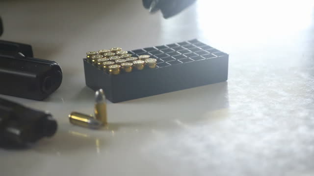 gun ammunition and clip - 45 49 years stock videos & royalty-free footage