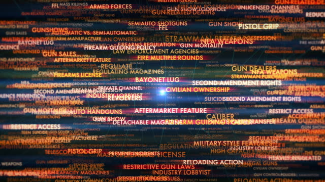 gun control debate terms - national rifle association stock videos & royalty-free footage