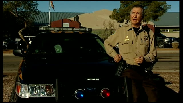 armed teachers in Texas school USA Arizona Various of Rick Velotta patrolling streets near school in car EXT Rick Velotta interview SOT INT Joe...