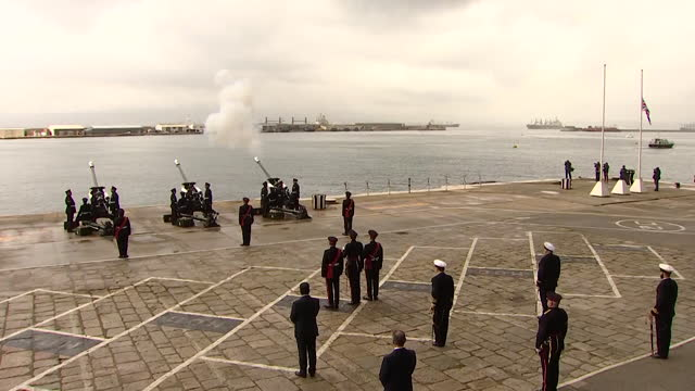 gun salue on island of gibraltar, following the death of prince philip, duke of edinburgh - shooting a weapon stock videos & royalty-free footage