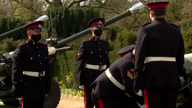 gun salute tribute at hillsborough castle, belfast, following the death of duke of edinburgh - respect stock videos & royalty-free footage