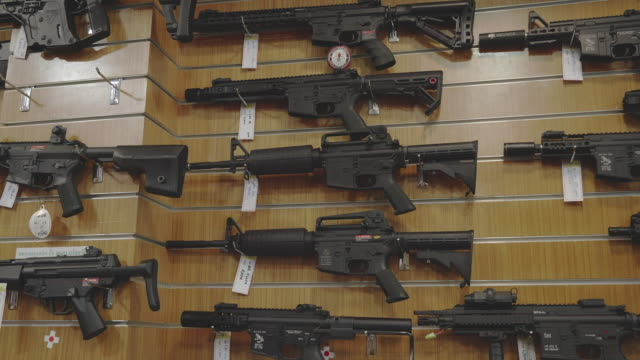 gun shop and/or bb gun shop. - ammunition stock videos & royalty-free footage