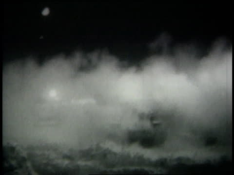 ws gunfire at night during israeli six day war - sechstagekrieg stock-videos und b-roll-filmmaterial
