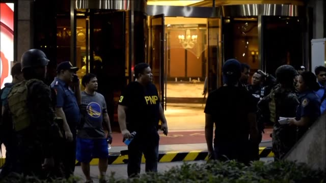 Gunfire was heard at a hotel and a casino resort in the Philippine capital on Friday and the Islamic State group quickly claimed responsibility