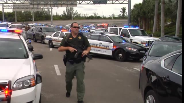 gunman opened fire friday at fort lauderdale hollywood airport a major tourist hub in florida killing five people and injuring eight and sending... - hollywood florida stock videos & royalty-free footage
