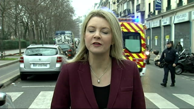 gunmen attack offices of charlie hebdo killing 10 people reporter to camera - violence stock videos & royalty-free footage