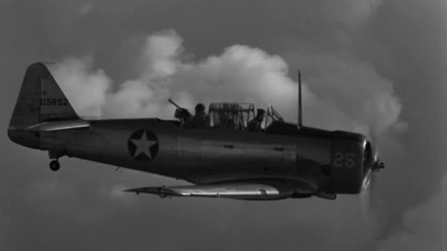 a 1943 gunner fires his machine gun in military plane gunnery practice. - 1943 stock videos & royalty-free footage