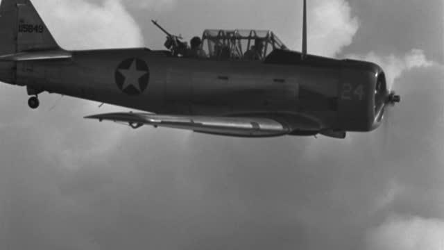 a 1943 gunner fires his machine gun in military plane gunnery practice. - machine gun stock videos & royalty-free footage