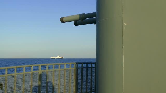 vidéos et rushes de canons du navire de guerre - turc