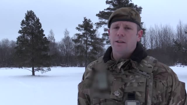 Gunshots and the thundering roar of armoured vehicles disturbed the silent snowy forests as British and Estonian troops went headtohead in an...